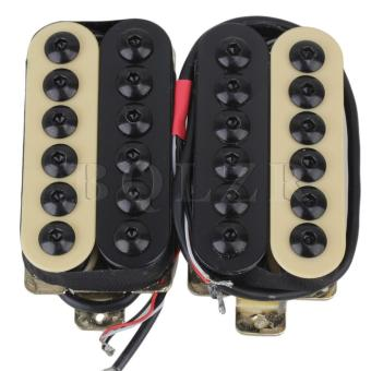 Electric Guitar Duplex Pickups One Pair Black+Yellow