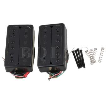 Electric Guitar Humbucker Bridge and Neck Pickups Set of 2 Black -intl