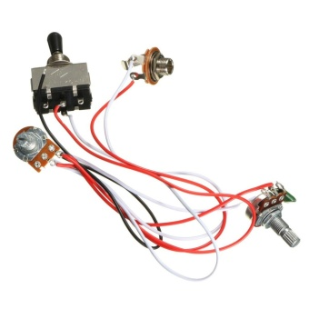 Electric Guitar Wiring Harness Kit 3 Way Toggle Switch 1 Volume 1 Tone 500K Pot - intl