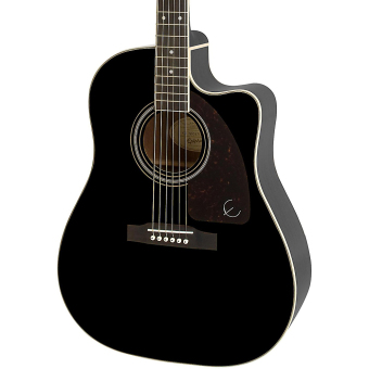 Epiphone AJ-220SCE Acoustic-Electric Guitar (Ebony) - picture 2