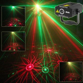 ESHINY B27 Mini RG laser Projector whirlwind 4 patterns Light DJ dance Disco bar Party Xmas effect Stage lighting Lights Show Black