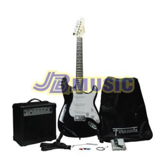Fernando ST-1 Electric Guitar Package (Black)