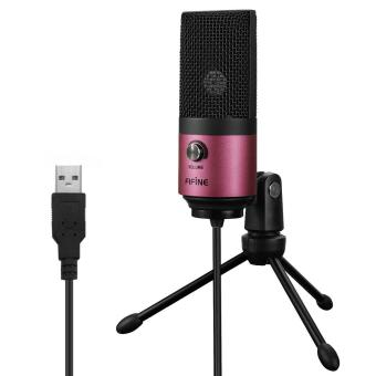 Fifine Usb Podcast Condenser Microphone Recording On Laptop- NoNeed Sound Card Interface and Phantom Power.(K669)