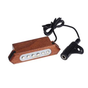Flanger FP-2 Sound-hole Pickup Transducer Wooden For Acoustic Guitar - intl