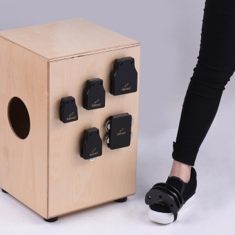 GECKO GK Series Cajon Box Drum Companions Set Including CastanetsJingle Bells Foot Tambourine Percussion Instruments ^ - intl Price Philippines