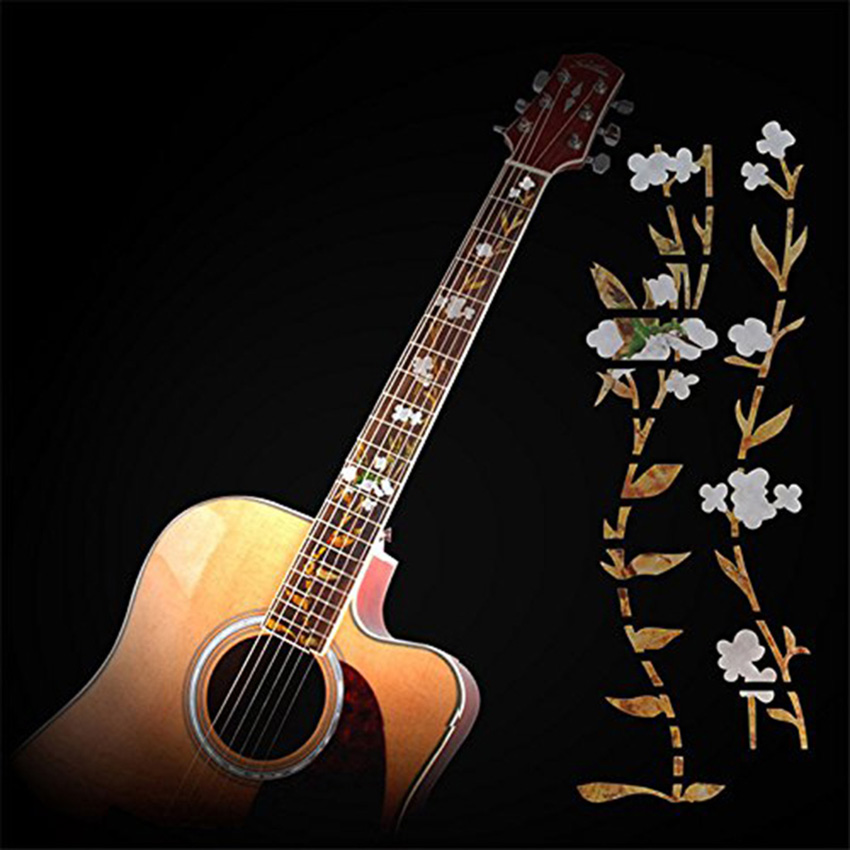Gracefulvara Guitar Inlay Stickers Elegant White Shell Flowers Guitarra Fretboard Decals/ Markers For Guitar Fret Neck