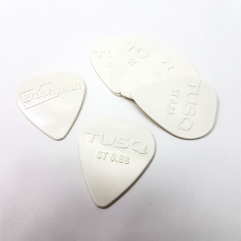 Graphtech TUSQ Standard Pick .88mm White (Bright) - 6 PackPQP-0088-W6
