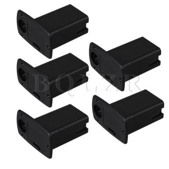 Guitar Bass 9V battery holder pull-out type Set of 5 Black