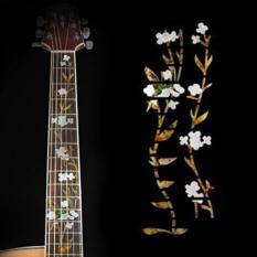 Guitar Bass Guitar Fretboard Inlay vinyl Sticker Decal Flower Design
