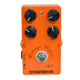 Guitar Overdrive Pedal True Bypass EQ CP-18 Metal Casing Orange