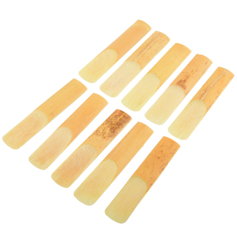 Hot 10Pcs Alto Saxophone Sax Reed Bamboo Replacement Repair Accessories