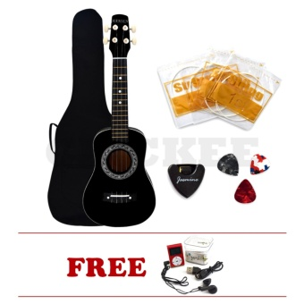 "Hansen Concert Ukulele Bundles Natural 23"" Black with MP3 Display Player Price Philippines"