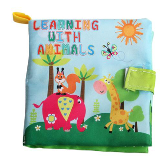 Soft Cloth Book Infant Educational Newborn Learning Book (Animal) - Intl Price Philippines
