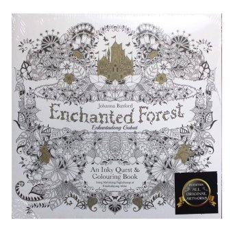 Harga Enchanted Forest : Adult Coloring Book [THE FILIPINO EDITION]