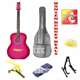 Hansen Budget Deals Acoustic Guitars (Pink) Price Philippines
