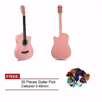 Arena 38 Inch Acoustic Guitar For Beginner Pink Color with Free 20 Pcs Guitar Pick Price Philippines