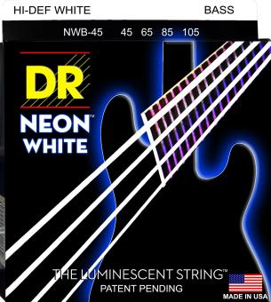 Harga DR Strings NWB-45 DR NEON 4 Bass Guitar String- Medium- White