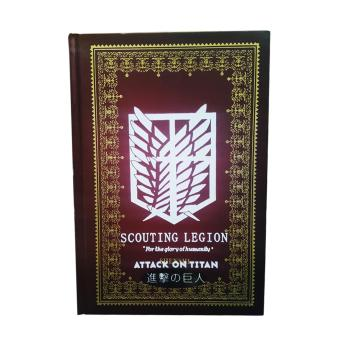 Anime - Attack on Titan Hard Cover Notebook ( Maroon ) Price Philippines