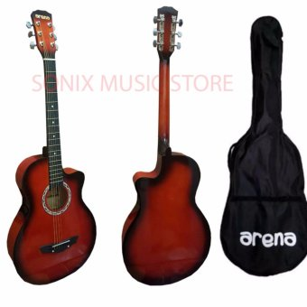 Arena Acoustic Guitar Red with Bag Price Philippines