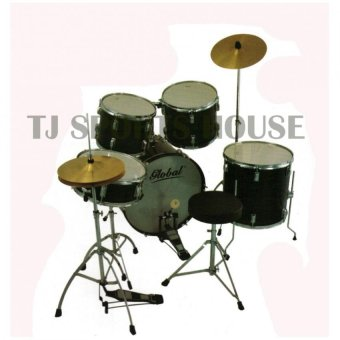 Harga Global Junior Drum Set (Wine Red)