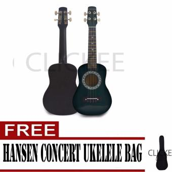 "Hansen Concert Ukulele Natural 23"" GREEN with FREE BAG Price Philippines"