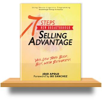 Jojo Apolo 7 Steps New Breakthrough Selling Advantage, Sales Book, Using NLP (Neuro-Linguistic Programming), 1 pc Price Philippines
