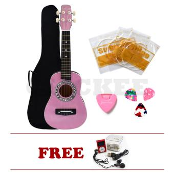 "Hansen Concert Ukulele Bundles Natural 23"" Pink2 with MP3 Display Player Price Philippines"