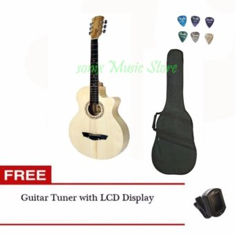 Arena Acoustic Guitar (Natural) with bag Free LCD tuner and 6 pcs pick Price Philippines