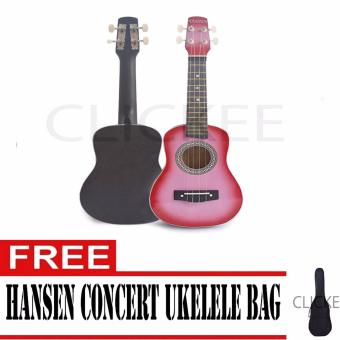 "Hansen Concert Ukulele Natural 23"" PINK with FREE BAG Price Philippines"