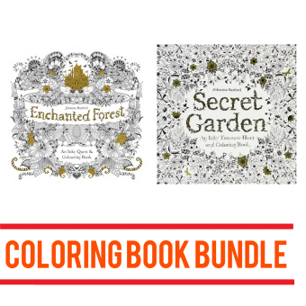 Harga Inky Treasure Hunt & Coloring Books: Enchanted Forest and Secret Garden
