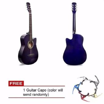 Arena 38 Inch Acoustic Guitar for Beginner Violet Color with Free Guitar Capo Price Philippines