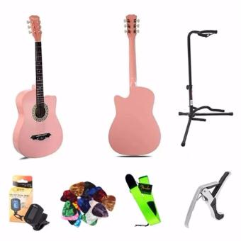 Arena 38 Inch Acoustic Guitar For Beginner Pink Color Package Price Philippines