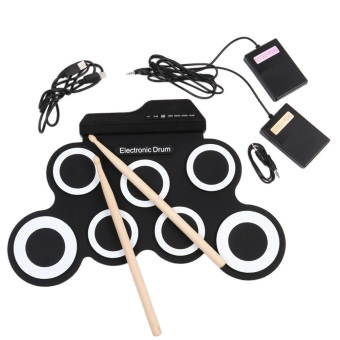 Harga Hand Roll USB Portable Electronic Drum IWord NOA Convenient Practice Kids with Built in Speaker - intl