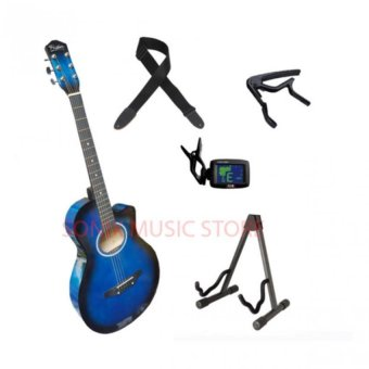 Harga Global-Fissler Guitar Starter Package (blue)