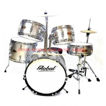 Harga Global Junior Drum Set (Silver)
