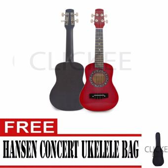 "Hansen Concert Ukulele Natural 23"" Red with FREE BAG Price Philippines"