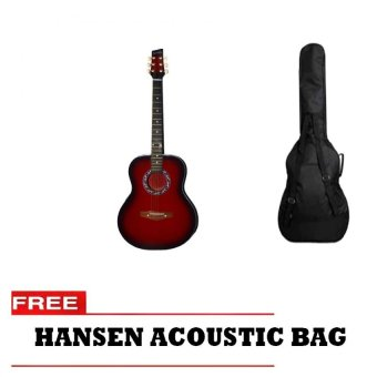 Hansen Acoustic Guitar with Free Bag (Red) Price Philippines