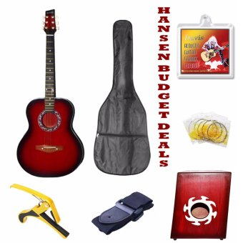 Hansen Swak Budget Deals Acoustic Guitars (Red) Price Philippines