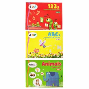 Introducing the ABC, Numbers, and Animals Children's EducationalBook Set of 3