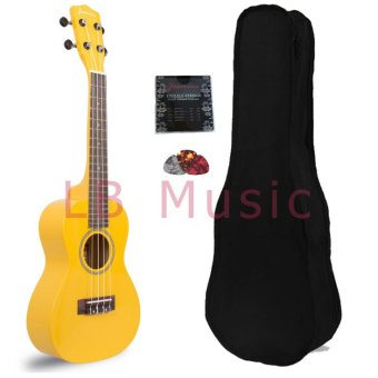 Jasmine Concert Colored Ukulele Ukelele (Yellow)