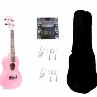 Jasmine Concert Packaged Colored Ukulele Ukelele (Pink)