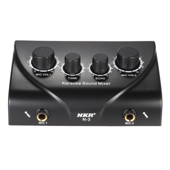 Karaoke Sound Mixer Dual Mic Inputs With Cable Outdoorfree - 5