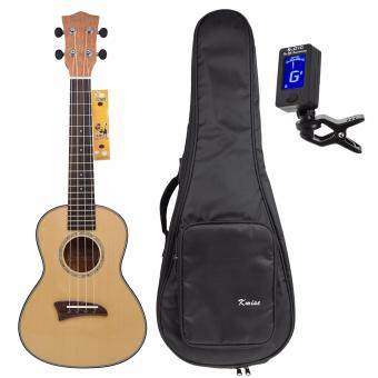 Kmise Solid Spruce Top Concert Ukulele 23 inch Hawaii GuitarMahogany Back Bone Saddle W/Bag JOYO Tuner - intl