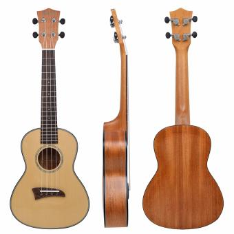 Kmise Solid Spruce Top Concert Ukulele 23 inch Hawaii GuitarMahogany Back Bone Saddle W/Bag JOYO Tuner - intl - 2