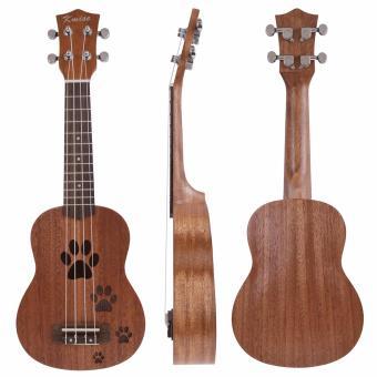 Kmise Soprano Ukulele Uke Hawaii Guitar 12 Frets 21 Inch withMahogany with Bag - intl - 2