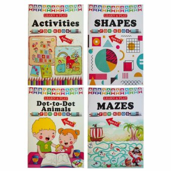 Learn and Play for Kids 4-pc Educational Activity Books forChildren 3-7 years old
