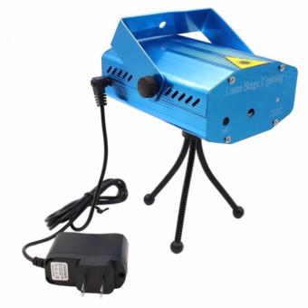LED Mini Laser Stage Light Projector Club Dj Disco Bar Stage Light(Blue)