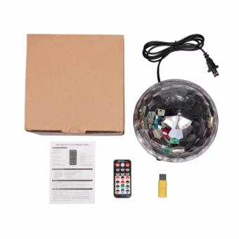 Lighting Crystal Magic Ball Christmas Light SD Card MP3 Speaker DMX512 DJ Lights Dance Club Party Disco Ball Lamps KTV Bar Effect Lighting Show + Remote Control - 5