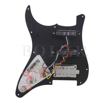 Loaded Pickguard SSH For Guitar Black - picture 2
