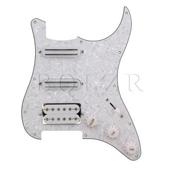 Loaded Pickguard with Tone Volume Control Knob for Electric GuitarWhite - Intl